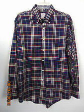 Brooks Brothers 346 Mens Long Sleeve Button Down Shirt Size M  Blue White  Plaid