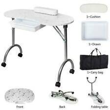 Manicure Nail Table Station Desk Spa Salon Beauty Equipment with Wheels and Bag