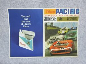 1967 PLAYERS PACIFIC CANADA CHAMPIONSHIP RACE at WESTWOOD Program Brochure