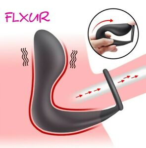 Male Prostate Massager Anal Butt Plug Penis Cock Ring Sex Toys for Men Women Gay