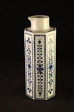 Vtg Arabia Finland Porcelain Blue & White Octagonal Pitcher Ewer Decanter Vase