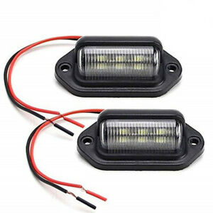 2PCS 6LED License Plate Lights Bulb Lamp Plastic Accessories For Car Truck SUV