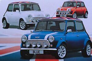 Tin Sign Bar Super Vintage Mini Car Metal Retro Plaque Garage Wall Decal 12x6''