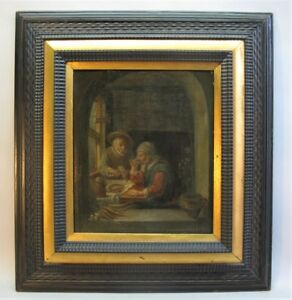 Original Antique Oil Painting of Dutch Master PROF V. BIANCHINI (Italy, c. 1919)