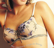 BNWT Charnos Indulgence ID002 Underwired Bra in Black and Wisteria