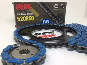 Suzuki DRZ400 2000-07 Blue RK X-Ring Race Chain and Sprockets Kit  Made in Japan