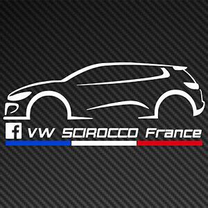 Sticker VW Scirocco France (15cm)