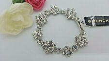 GIVENCHY cluster crystal flex silver-tone bracelet