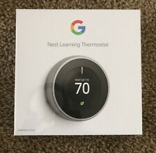 BRAND NEW Google Nest 3rd Generation Smart Learning Thermostat - Stainless Steel