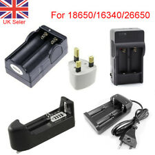 18650 Li-ion Battery Charger for 3.7V Rechargeable 18650 26650 16340 Battery UK