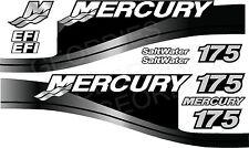 GRIGIO MERCURY 175 motore fuoribordo quattro tempi MOTORE KIT ADESIVI DECAL