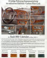 KSM Prospekt Edelholzlook Saab 900 9000 brochure Auto Autoprospekt Broschüre Pkw