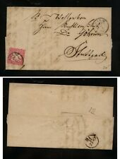 Germany  Wurttemberg   #36  on folded letter           MS0627