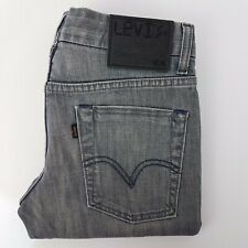 Levis Black Sharps 568 SZ W29 L 33 Denim Low Rise Pockets Straight Slim Stretch