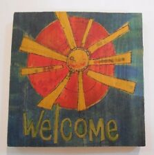 Welcome Ganz Painted Peace Magnet Kitchen Refrigerator Sun