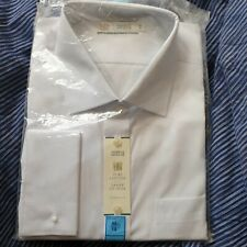 "BRAND NEW M&S EASIER TO IRON Size 18"" Marks and Spencer Shirt PURE COTTON bnwt"