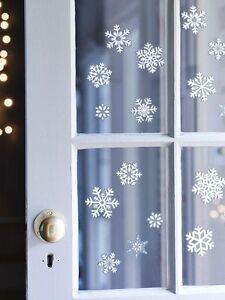 1000 REUSABLE Snowflake Christmas Window Glitter Stickers Xmas Home Decorations
