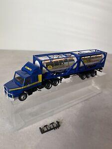 Camion SCANIA 142 ASG SPEDITION TRANSPORT 1/87 HO Herpa / Awm Amw Albédo Brekina