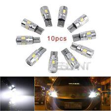 10pcs T10 W5W 3W 6 LED 5630 SMD alta potencia coche Blanco luz Bombillas