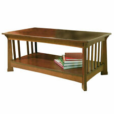 Solid Wood Rectangle Country Coffee Tables with Flat Pack