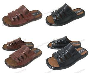 NIB Men's Slides Sandals Open Toe Casual Fisherman Fashion Slippers Shoes Sizes