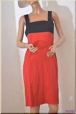 Robe bretelles rouge et noir ZARA BASIC  taille M ref 071767