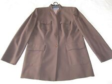 Classic Ladies Formal AUSTIN REED Jacket 100% BROWN Wool Size 14 - 16 VGC