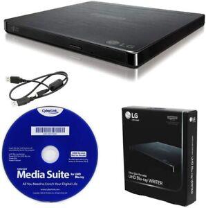 LG BP60NB10 Portable 6X UHD Blu-ray Burner + CyberLink Software