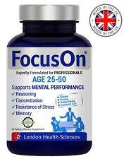 FocusOn Brain Booster Multivitamin Nootropics Supplement - Aged 25-50
