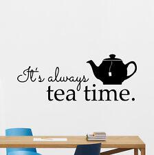 Alice In Wonderland Wall Decal Tea Time Kitchen Vinyl Sticker Art Poster 125crt