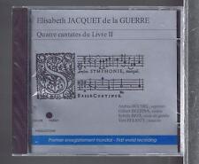 JACQUET DE LA GUERRE CD NEW 4 CANTATES DU LIVRE II / ANDREA BUCHEL/ G.BEZZINA
