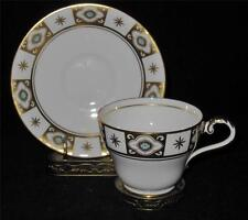 Aynsley BELMONT 129 Cup & Saucer Set, Blue Flowers, Gold Sections