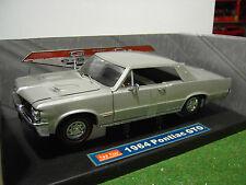 PONTIAC GTO Coupé de 1964 street gris au 1/18 SUNSTAR voitire miniature 1821