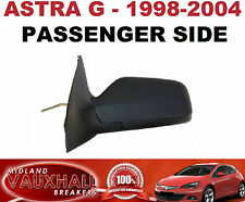VAUXHALL ASTRA G MK4 MANUAL WING MIRROR BLACK 1998-04 PASSENGER NEAR SIDE VAN