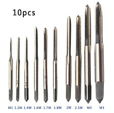 10PCS M1-8 HSS Mini Tap Thread Wire Tapping Threading Grinding Carving Tool Set