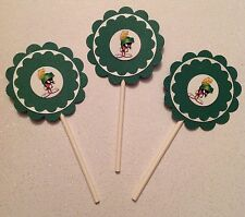 Marvin The Martian Cupcake Toppers - Marvin Party Decor - Marvin Birthday Party
