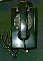Vintage Black Western Electric Bell System 554BMP Rotary Wall Telephone SNET