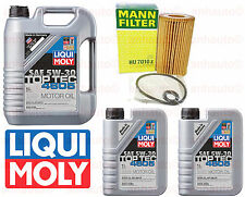 7-Liters Liqui Moly Motor Oil  TOP TEC Synthetic 5W30 & MANN Oil Filter Mercedes