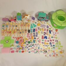 POLLY POCKET 20 Dolls Cloths Accessory Huge Lot 220+ Pieces Pets Shoes car