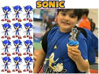 USA SONIC THE HEDGEHOG BIRTHDAY PARTY 12 CUPCAKE TOPPERS CAKE TOPPER DECORATION