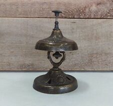 Fancy Brass Service Counter Tap Bell, Hotel Ringer Bell with Sunflower Design
