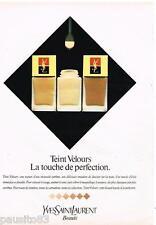 PUBLICITE ADVERTISING 085  1982  YVES SAINT LAURENT maquillage  TEINT VELOURS