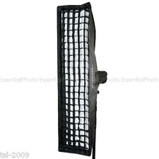 35x160cm elinchrom fit encastré studio strobe/flash strip softbox & 5cm grille