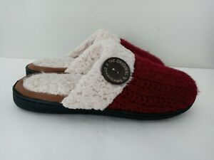 Dearfoams Women's Slippers Clog The Original 1947 with Button Knitted Slip on