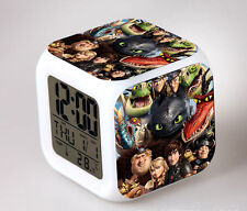 How to Train Your Dragon 7 Colors Change Night light Colorful kids Alarm Clock