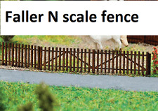 NEW ! N scale Faller  Wood PICKET FENCE (Brown) Model Detail Kit # 272410
