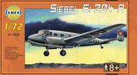 SIEBEL Si-204 A PASSENGER AIRCRAFT (DLH  & LUFTWAFFE MARKINGS) #929 1/72 SMER