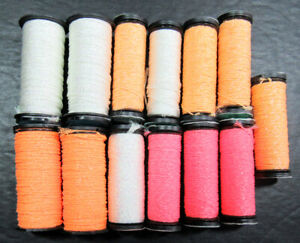 13x Needlepoint/Embroidery THREAD KREINIK 8&16 Braid+1/16 Ribbon metallic-XW23
