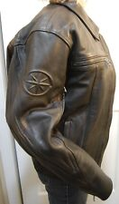 Yamaha STAR Black Leather Men's Motorcycle Jacket, Size Small In Very Nice Shape