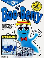 Boo Berry Monster Cereal Vintage High Quality Metal Magnet 3 x 4 inches 9440